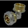 """Угол с внешней резьбой для металлопластиковых труб D 20 мм * 1/2"""""""