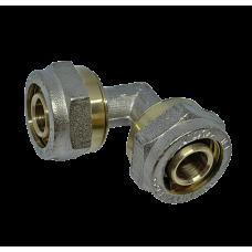 Угол соединительный для металлопластиковых труб D 16 * D 16 мм