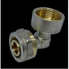 """Угол с внутренней резьбой для металлопластиковых труб D 16 мм * 1/2"""""""