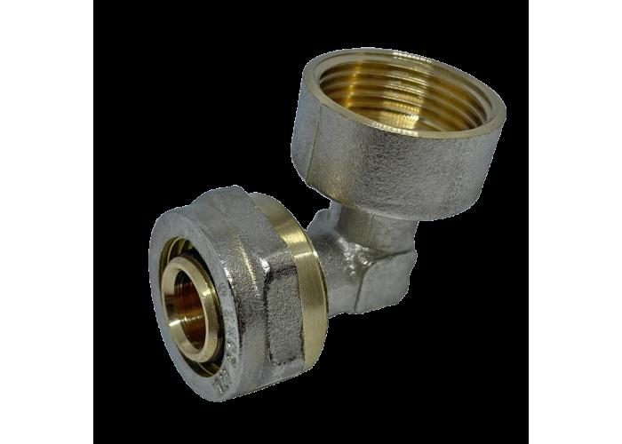 """Угол с внутренней резьбой для металлопластиковых труб D 16 мм * 3/4"""""""