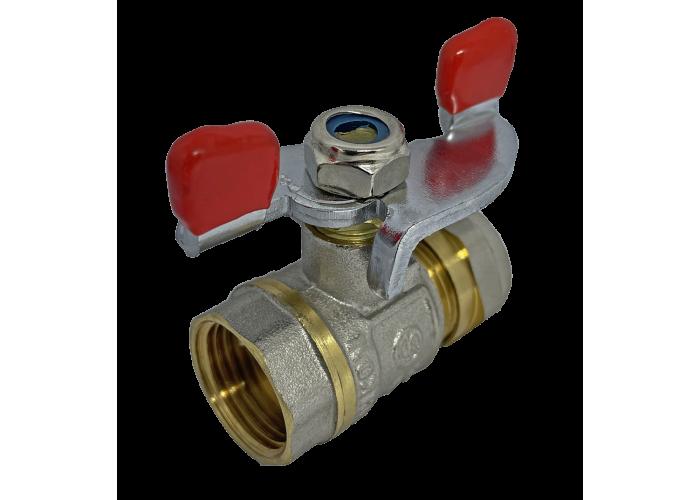 """Кран соединительный с внутренней резьбой для металлопластиковой трубы 20 мм * 3/4"""""""