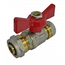 Кран соединительный для металлопластиковой трубы 16 мм * 16 мм