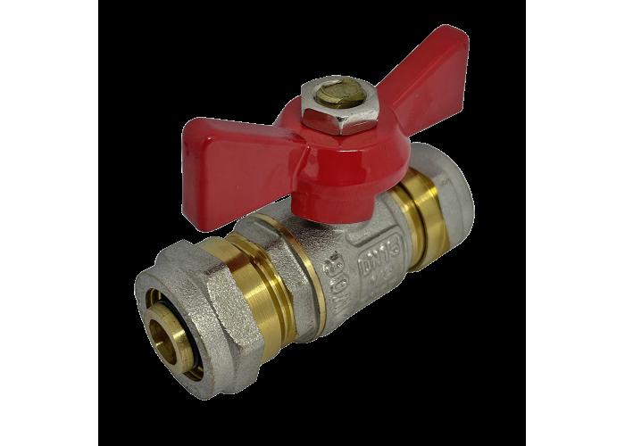 Кран соединительный для металлопластиковой трубы 20 мм * 20 мм