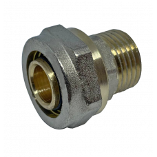 """Муфта с внешней резьбой для металлопластиковых труб D 16 мм * 3/4"""""""