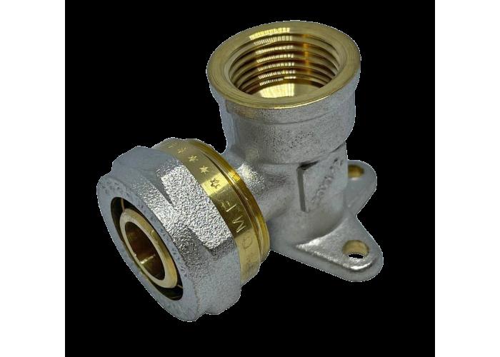 """Угол с внутренней резьбой монтажный для металлопластиковых труб D 20 мм * 1/2"""""""