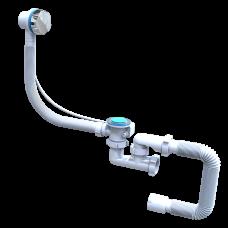 Сифон для ванны Santehplast FLAT steamer автомат с нержавеющий с переливом и гибкой трубой 40х50 (регулируемый)