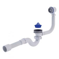 """Сифон для ванны ANI PLAST с выпуском 1 1/2"""", с переливом, с гибкой трубой 40/50"""